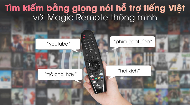 Smart Tivi LG 4K 65 inch 65NANO81TNA - Magic Remote dễ điều khiển