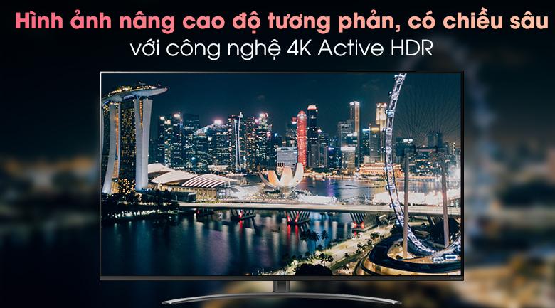 Smart Tivi LG 4K 65 inch 65NANO81TNA - Công nghệ Active HDR cho hình ảnh có độ tương phản cao