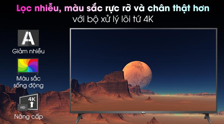 Smart Tivi LG 4K 43 inch 43UN7290PTF - Chip xử lý Quad Core 4K