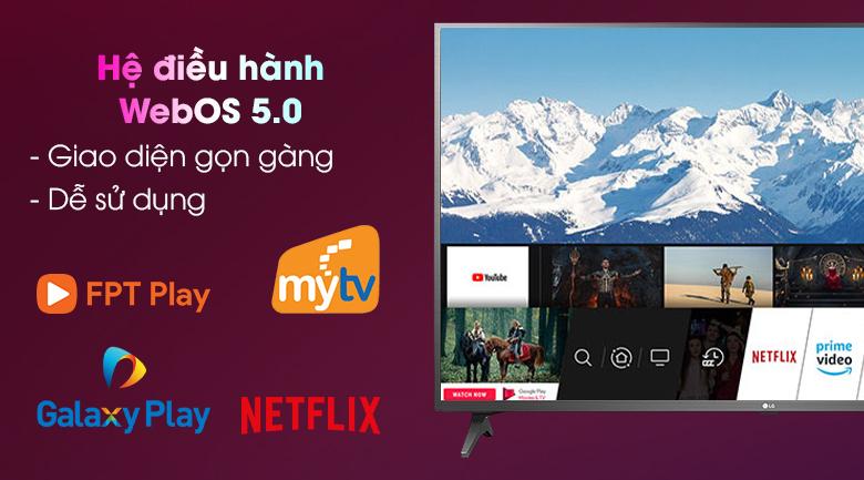 Smart Tivi LG 4K 43 inch 43UN7290PTF- Hệ điều hành WebOS Smart TV 5.0