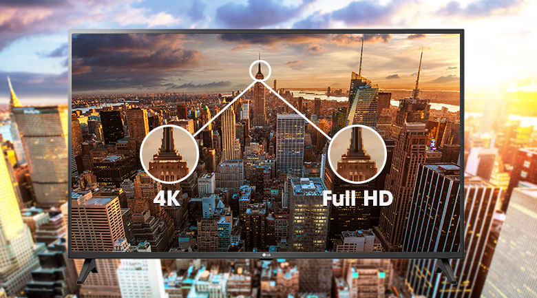Smart Tivi LG 4K 43 inch 43UN7290PTF - Độ phân giải 4K