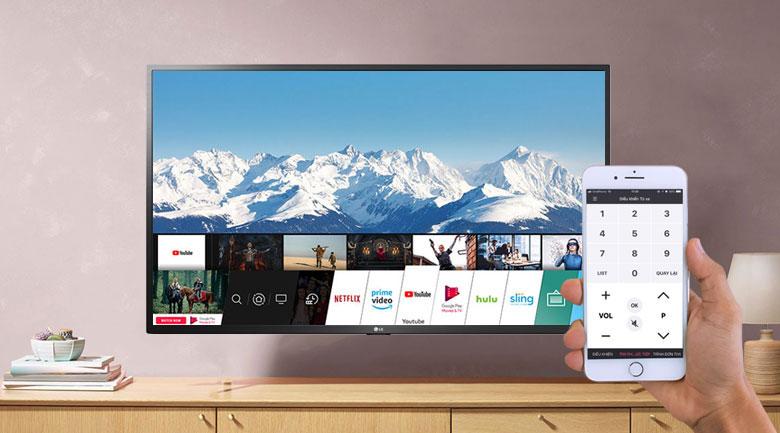 Smart Tivi LG 4K 43 inch 43UN7290PTF - Điều khiển tivi bằng điện thoạ thông qua ứng dụng LG TV Plus