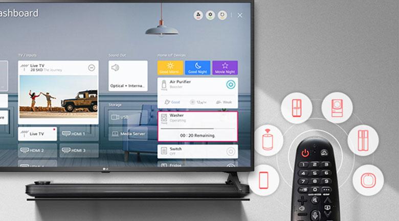 Magic Remote và trí tuệ nhân tạo AI ThinQ  - Smart Tivi LG 4K 75 inch 75UN7290PTF
