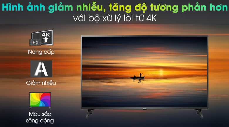 Hình ảnh được tối ưu hóa với bộ xử Quad Core - Smart Tivi LG 4K 75 inch 75UN7290PTF