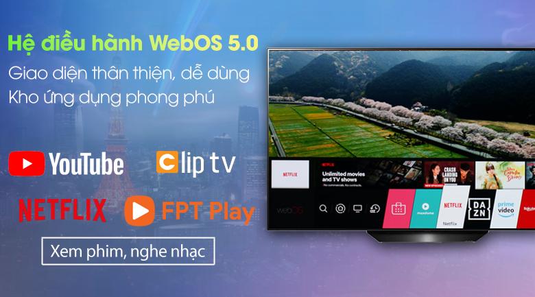 Smart Tivi OLED LG 4K 55 inch 55BXPTA - Hệ điều hành WebOS 5.0