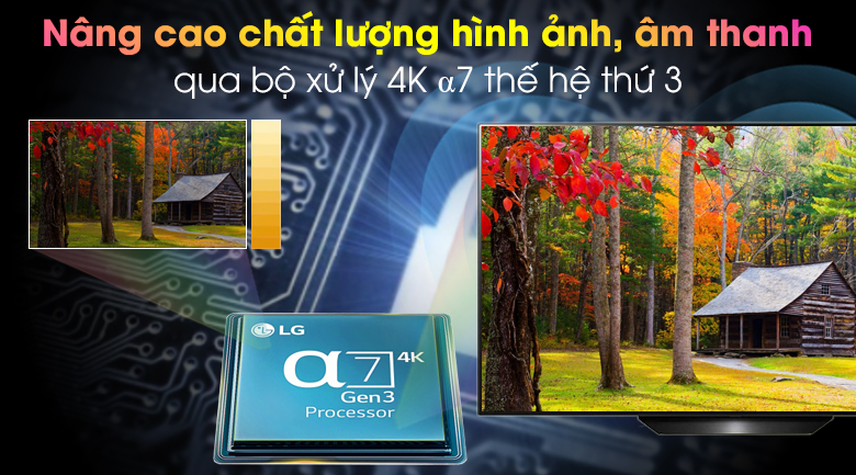 Smart Tivi OLED LG 4K 65 inch 65BXPTA - Chip xử lý thông minh α7 Gen 3