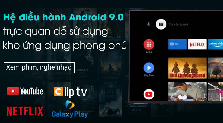 Android Tivi Sony 4K 49 inch KD-49X9500H - Hệ điều hành 9.0