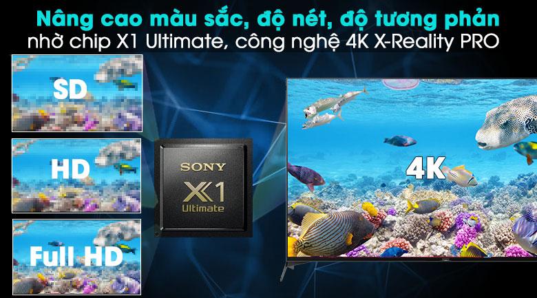 Android Tivi Sony 4K 55 inch KD-55X9500H - Nâng cấp hình ảnh với X1 Ultimate, 4K X-Reality PRO