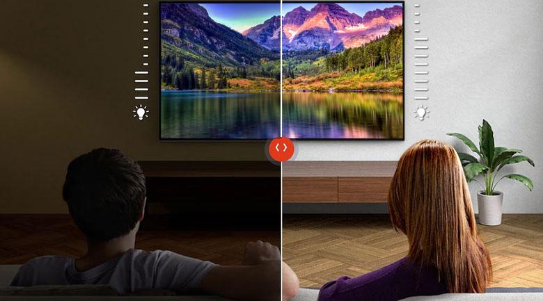 Android Tivi Sony 4K 55 inch KD-55X9500H - Tự động điều chỉnh hình ảnh và âm thanh theo môi trường nhờ Ambient Optimization