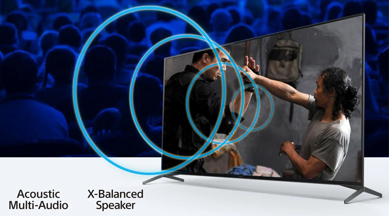 Android Tivi Sony 4K 55 inch KD-55X9500H - Âm thanh và hình ảnh được đồng bộ nhờ Acoustic Multi-Audio