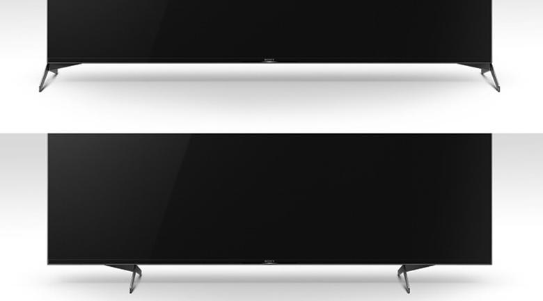 Android Tivi Sony 4K 65 inch KD-65X9500H - Chân đế linh hoạt với 2 cách sắp xếp