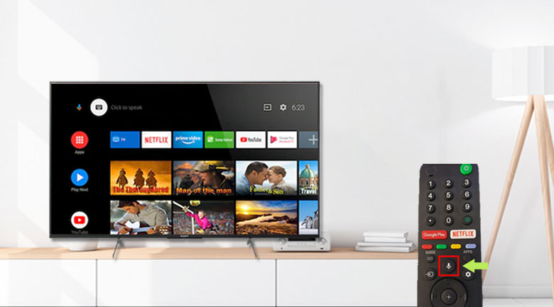 Android Tivi Sony 4K 43 inch KD-43X8500H/S - Điều khiển bằng giọng nói có hỗ trợ tiếng Việt và Google Assistant