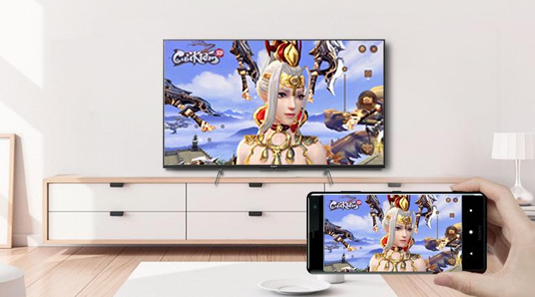 Android Tivi Sony 4K 43 inch KD-43X8500H/S - Chiếu màn hình điện thoại lên tivi dễ dàng