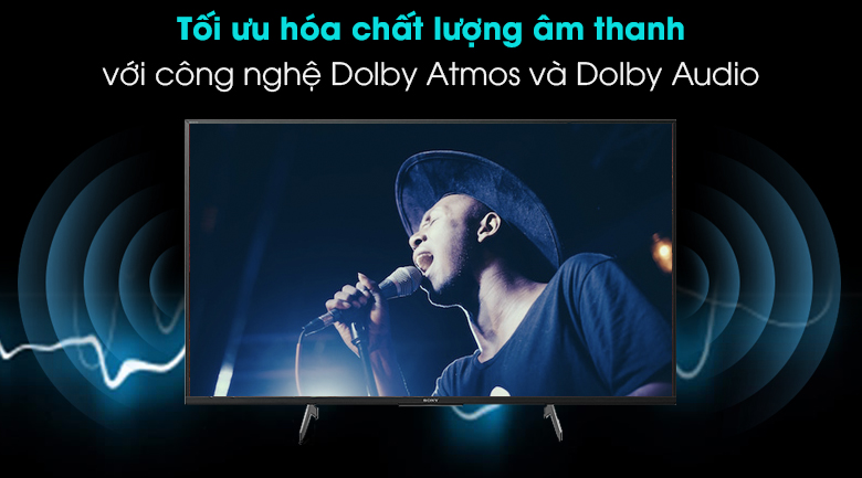 Tivi Sony 4K 43 inch KD-43X8500H/S - Tối ưu hóa âm thanh với Dolby Atmos và Dolby Audio