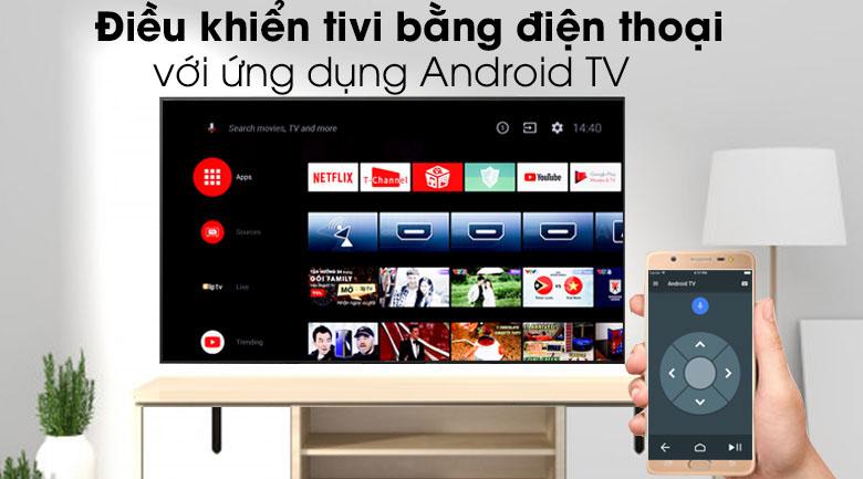 Tivi Sony 4K 43 inch KD-43X8500H/S - Điều khiển tivi bằng điện thoại qua ứng dụng Android TV