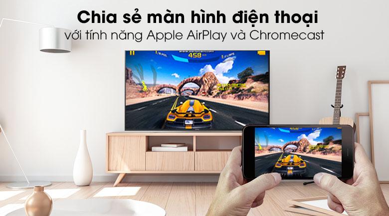 Tivi Sony 4K 43 inch KD-43X8500H/S - Chiếu màn hình điện thoại lên tivi