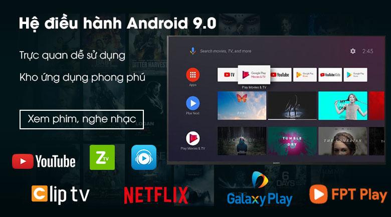 Tivi Sony 4K 43 inch KD-43X8500H/S - Hệ điều hành Android 9.0