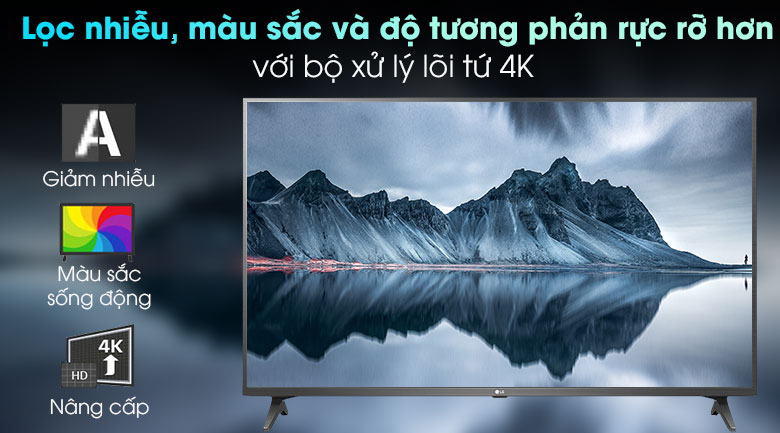 Smart Tivi LG 4K 49 inch 49UN7290PTF - Bộ xử lý Quad Core 4K