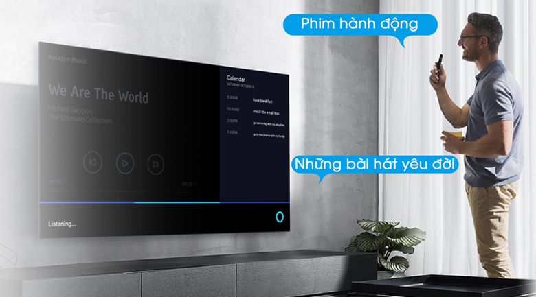 Remote thông minh kết hợp với Google Assistan t- Android Tivi TCL 4K 50 inch 50P615