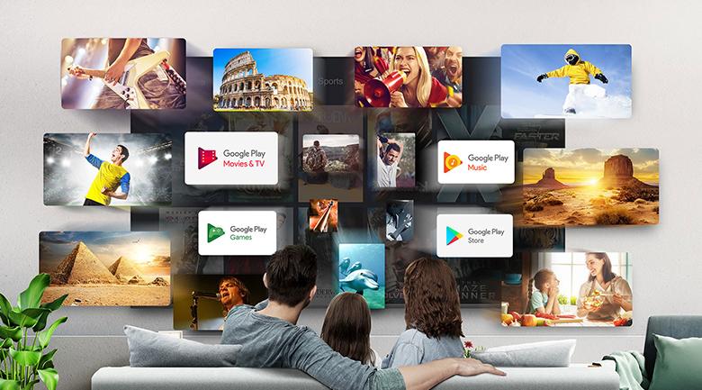 Hệ điều hành- Android Tivi TCL 4K 55 inch 55P615