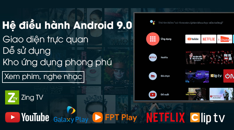 Android Tivi TCL 4K 65 inch 65P615 - Android 9.0