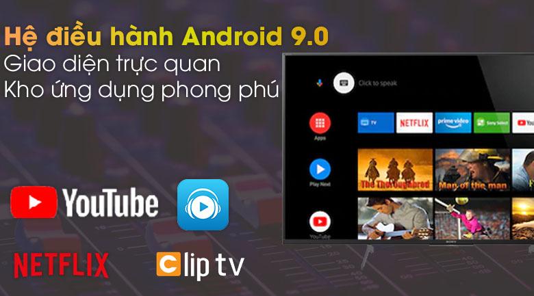 Hệ điều hành Android 9.0 - Android Tivi Sony 4K 49 inch KD-49X8500H