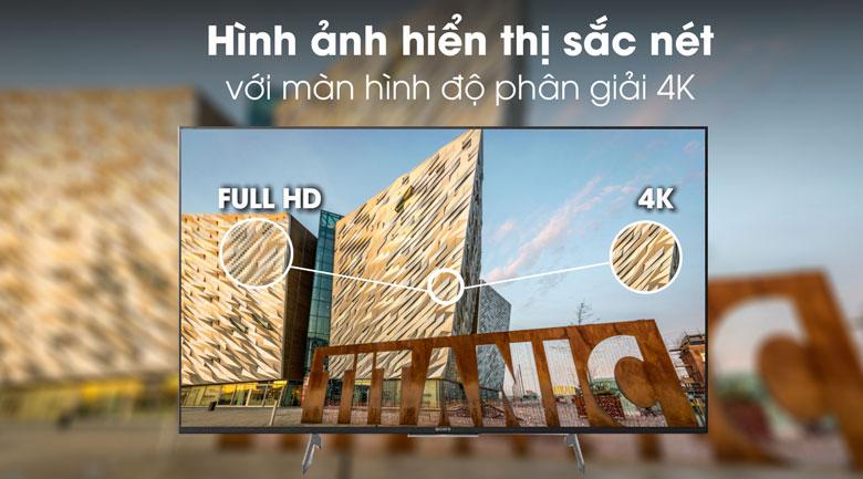 Độ phân giải - Android Tivi Sony 4K 49 inch KD-49X8500H/S