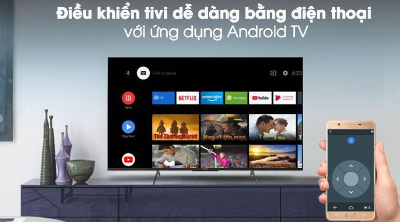 Android TV - Android Tivi Sony 4K 49 inch KD-49X8500H/S