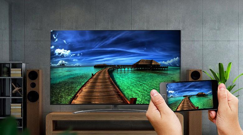 Smart Tivi NanoCell LG 4K 55 inch 55NANO86TNA - Chiếu màn hình điện thoại lên tivi