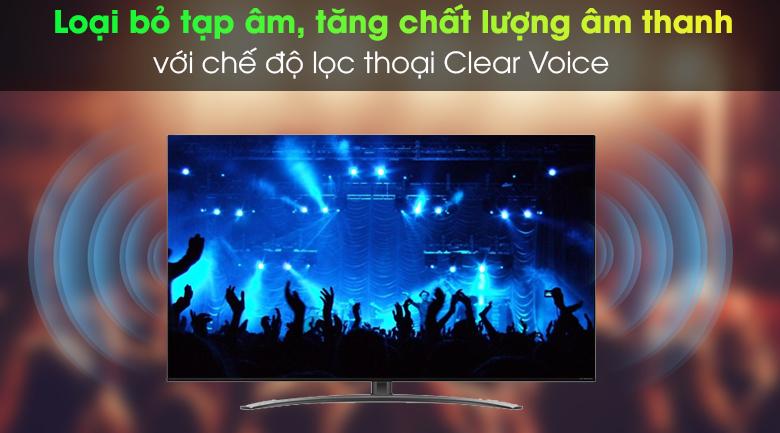 Smart Tivi NanoCell LG 4K 55 inch 55NANO86TNA - Chế độ lọc thoại Clear Voice