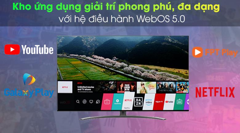 Smart Tivi NanoCell LG 4K 55 inch 55NANO86TNA - Hệ điều hành WebOS 5.0