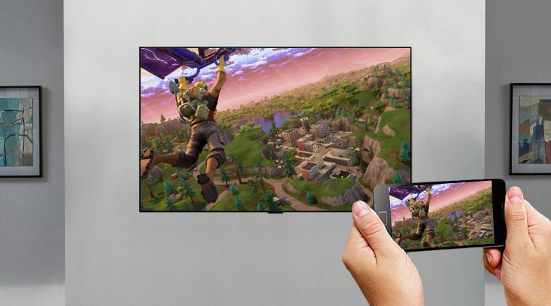Smart Tivi OLED LG 4K 55 inch 55GXPTA - Chiếu màn hình điện thoại