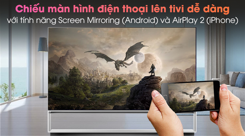 Smart Tivi OLED LG 8K 88 inch 88ZXPTA - Chiếu màn hình điện thoại lên tivi