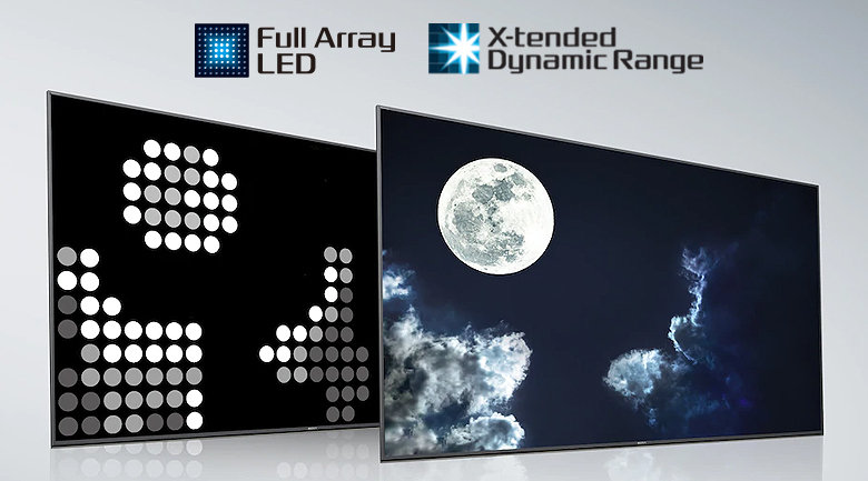 Full Array LED và công nghệ X-tended Dynamic Range™ - Android Tivi Sony 4K 55 inch KD-55X9000H