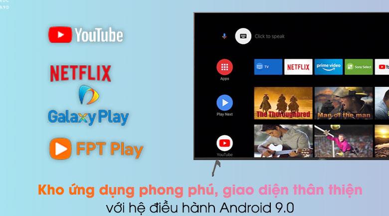 Android Tivi Sony 4K 55 inch KD-55X9000H/S - Hệ điều hành