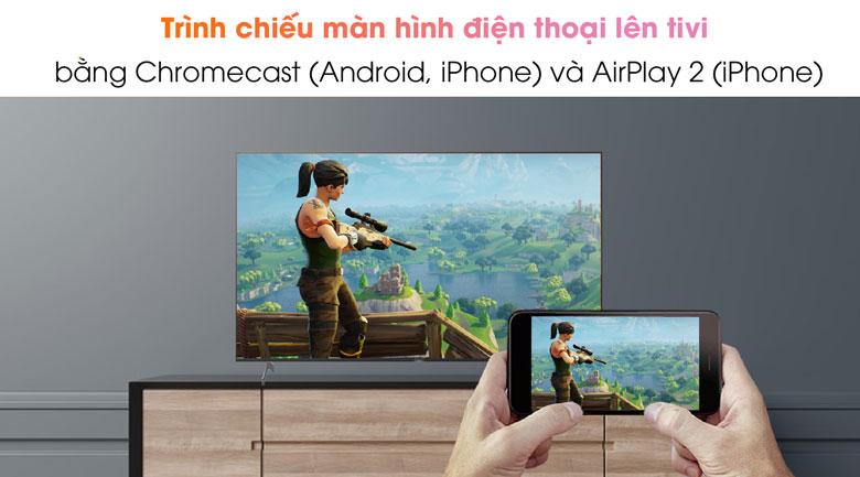 Android Tivi Sony 4K 55 inch KD-55X9000H/S - Chiếu màn hình