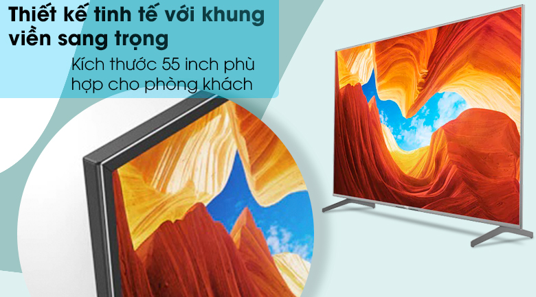 Android Tivi Sony 4K 55 inch KD-55X9000H/S - Thiết kế