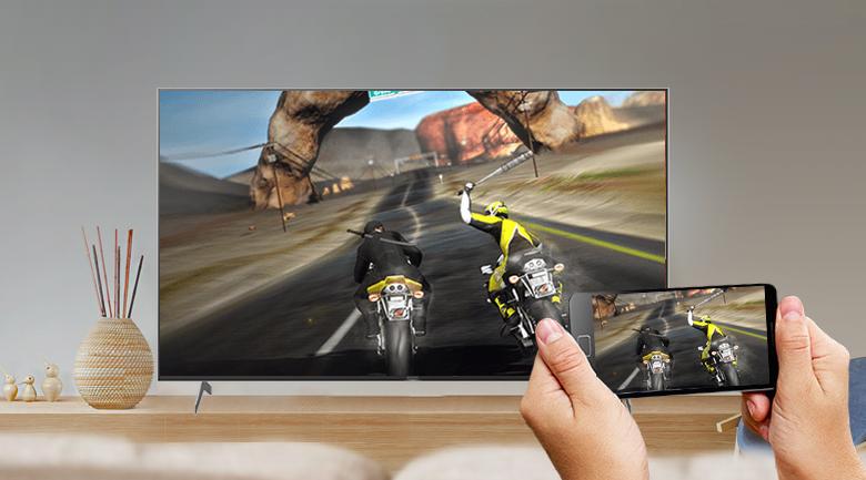 Android Tivi Sony 4K 65 inch KD-65X9000H - Chiếu màn hình điện thoại