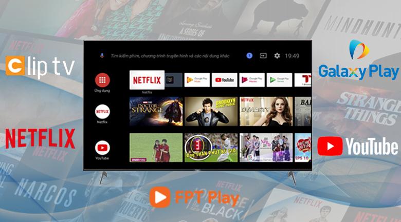Android Tivi Sony 4K 75 inch KD-75X9000H - Hệ điều hành Android 9.0