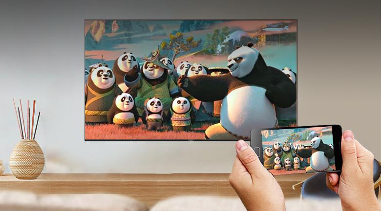 Android Tivi Sony 4K 75 inch KD-75X9000H - Chiếu màn hình