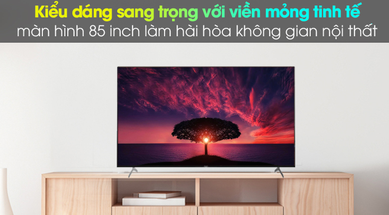 Thiết kế - Android Tivi Sony 4K 85 inch KD-85X9000H