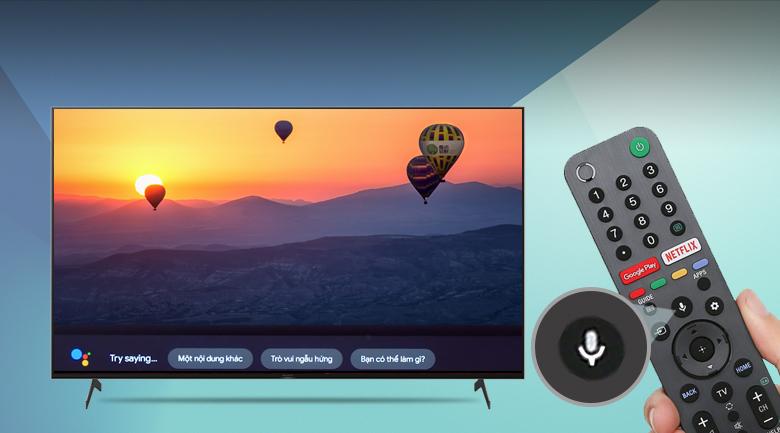Remote thông minh và Google Assistant - Android Tivi Sony 4K 85 inch KD-85X9000H
