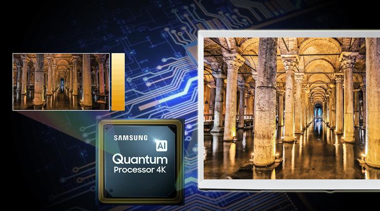 Smart Tivi QLED Samsung 4K 55 inch QA55LS01T - Quantum 4K và trí tuệ nhân tạo Al