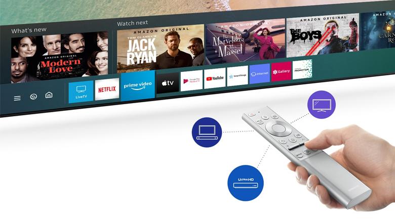 Smart Tivi QLED Samsung 4K 55 inch QA55LS01T - One Remote