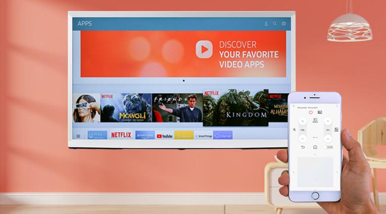 Smart Tivi QLED Samsung 4K 55 inch QA55LS01T - SmartThings