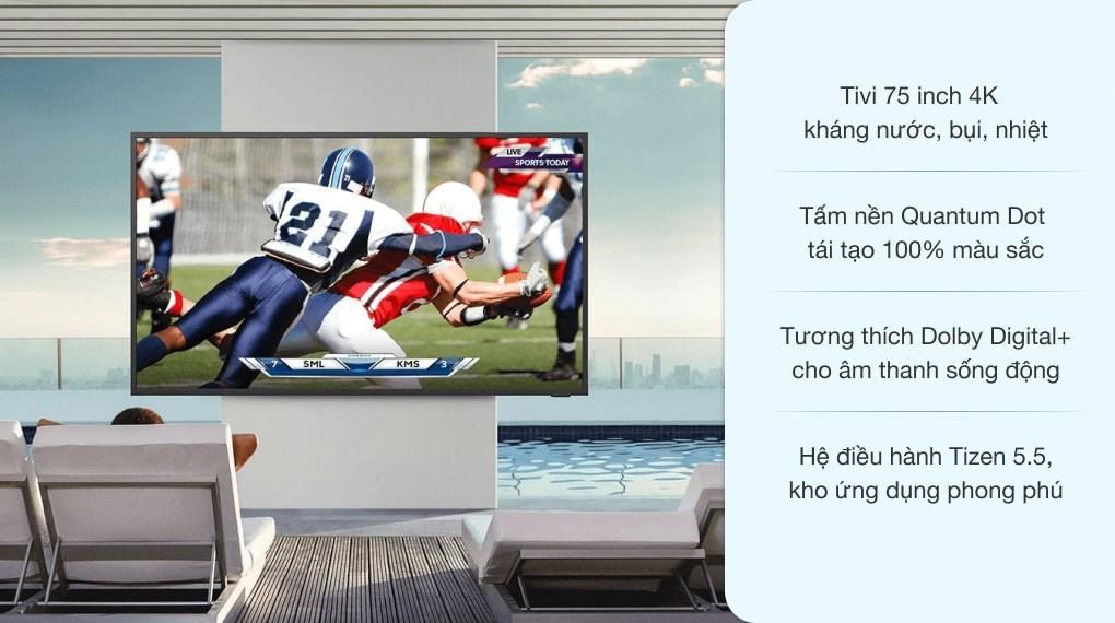 Smart Tivi Ngoài Trời The Terrace QLED Samsung 4K 75 inch QA75LST7T