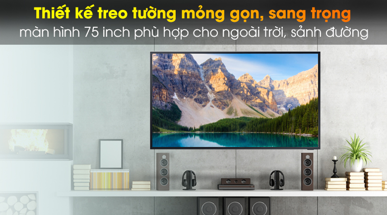 Smart Tivi The Terrace QLED Samsung 4K 75 inch QA75LST7T  - Thiết kế hiện đại