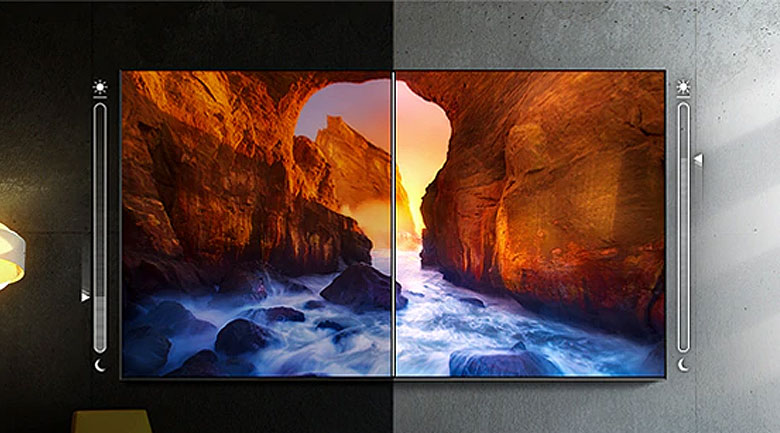 Smart Tivi The Terrace QLED Samsung 4K 75 inch QA75LST7T - Adaptive Picture