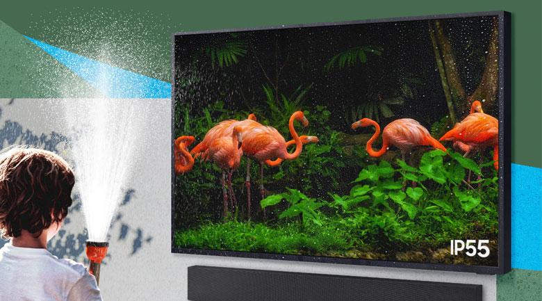 Smart Tivi The Terrace QLED Samsung 4K 75 inch QA75LST7T - kháng nước và kháng bụi đạt chuẩn IP55