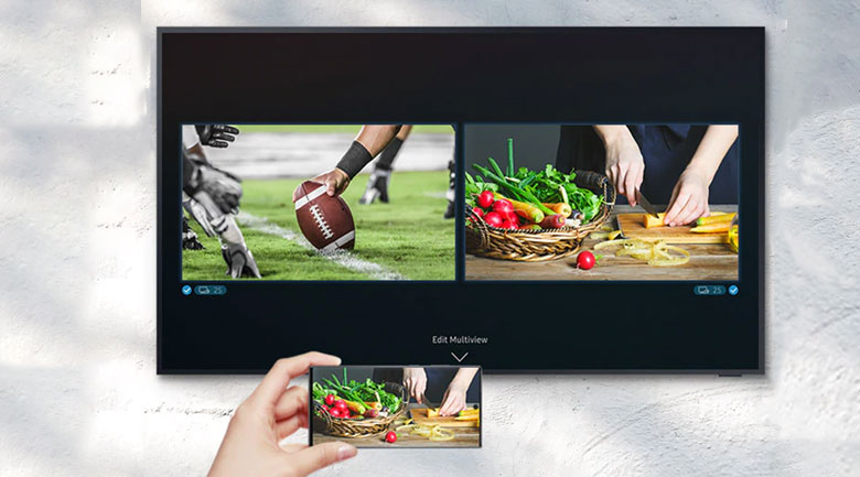 Smart Tivi The Terrace QLED Samsung 4K 75 inch QA75LST7T - tính năng Multi View